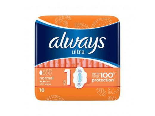 ALWAYS higieniniai paketai Ultra Normal Plus N10