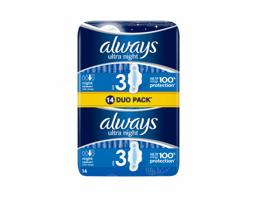 ALWAYS higieniniai paketai Ultra Night N14