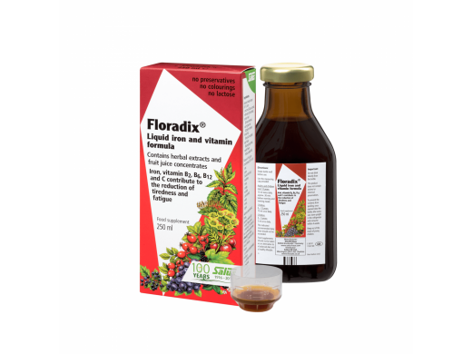 FLORADIX skystosios geležies formulė 250 ml.