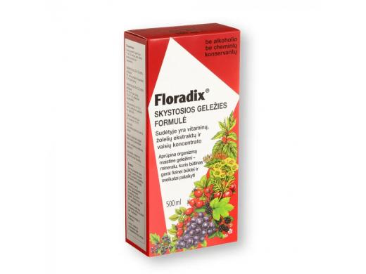 FLORADIX skystosios geležies formulė 500 ml.