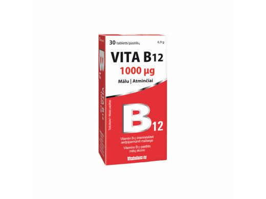 Vita B12 1 mg tabletės N30