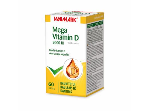 WALMARK Mega Vitamin D 2000 IU kapsulės N60