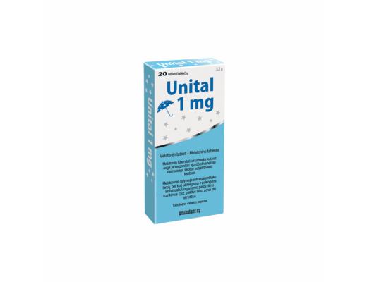 Unital 1 mg melatonino tabletės N20