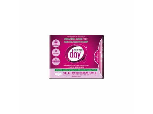 GENTLE DAY ekologiški dieniniai higieniniai paketai su anijonų juostele N10