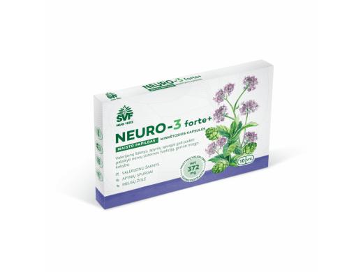 ŠVF minkštosios kapsulės NEURO-3 FORTE+ N10