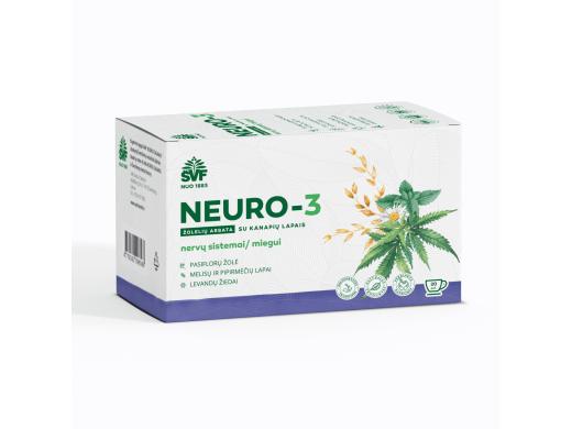 ŠVF žolelių arbata NEURO-3 su kanapių lapais 1,5 g. N20
