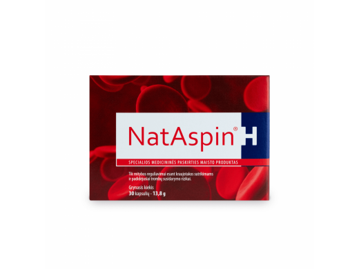 NATASPIN H kapsulės N30