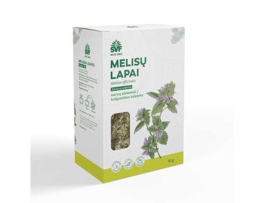 ŠVF MELISŲ LAPAI žolelių arbata 50 g.