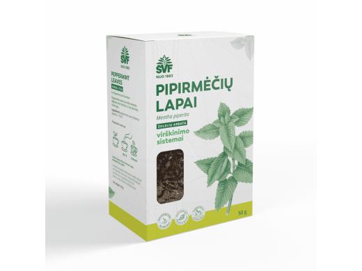 ŠVF PIPIRMĖČIŲ LAPAI žolelių arbata 50 g.