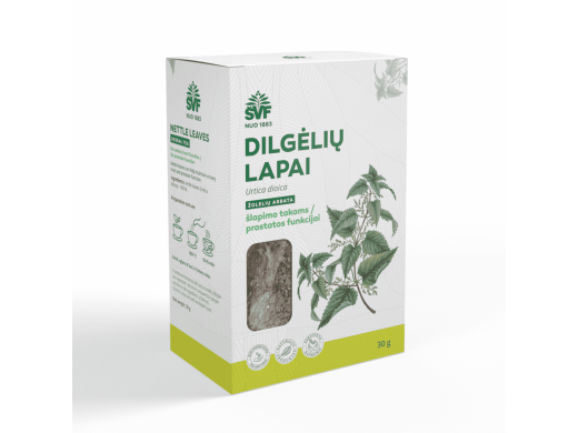 ŠVF DILGĖLIŲ LAPAI žolelių arbata 30 g.