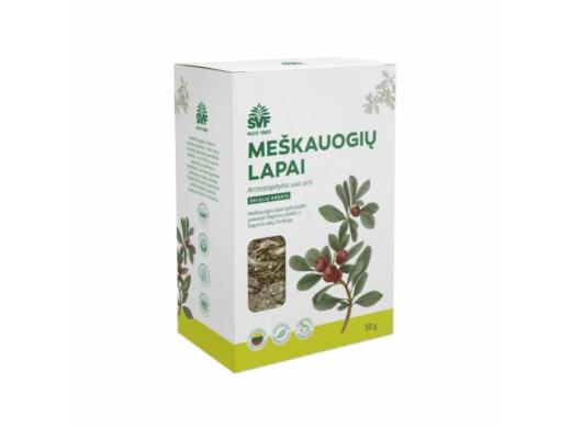 ŠVF žolelių arbata MEŠKAUOGIŲ LAPAI 50 g.