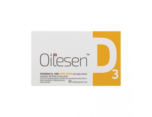 OILESEN Vitaminas D3 1000 minkštosios kapsulės N80