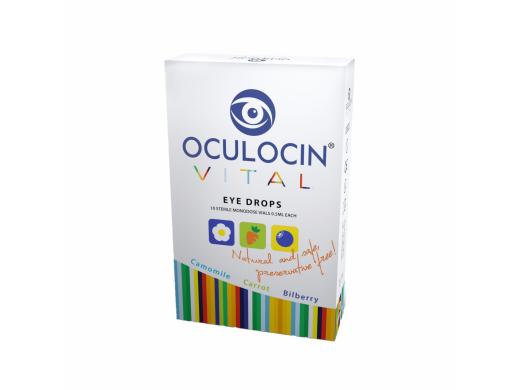 OCULOCIN VITAL akių lašai be konservantų vienkartiniuose lašintuvuose 0,5 ml. N10