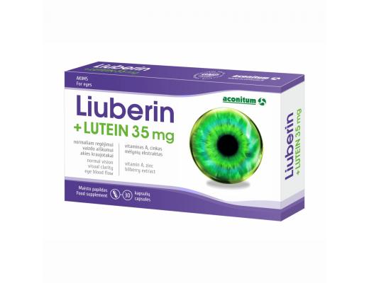 Liuberin + Lutein 35 mg kapsulės N30