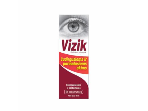 VIZIK akių lašai sudirgusioms ir paraudusioms akims 10 ml.