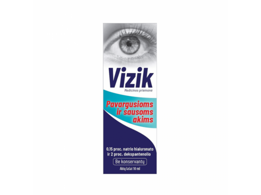 VIZIK akių lašai sausoms ir pavargusioms akims 10 ml.
