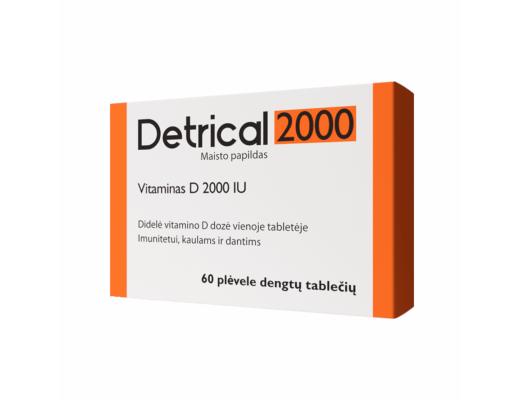 DETRICAL vitaminas D3 2000 IU N60