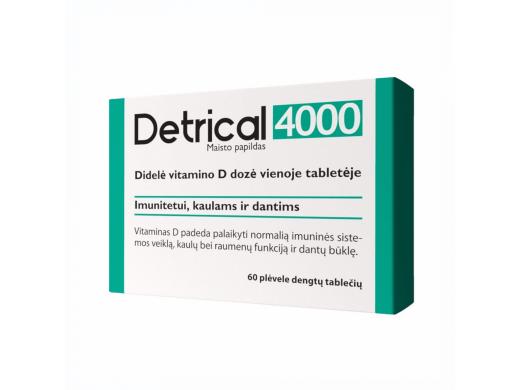 DETRICAL vitaminas D 4000 IU N60