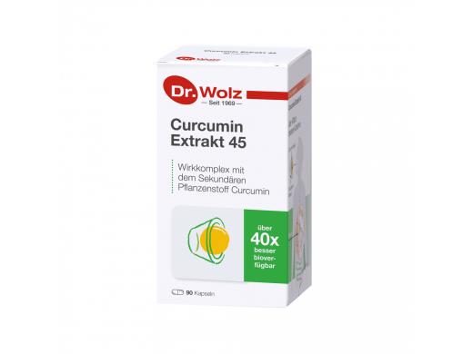 Curcumin Extract 45 Dr. Wolz kapsulės N90