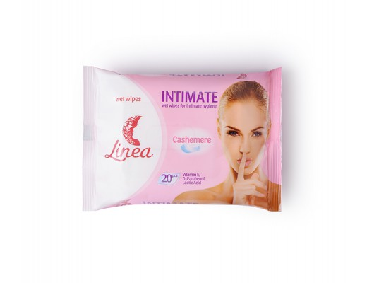 Intymios higienos drėgnos servetėlės LINEA Intimate, 20vnt.