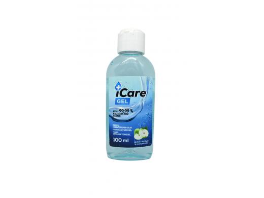 Dezinfekcinis rankų gelis iCare su obuolio kvapu, 100 ml.