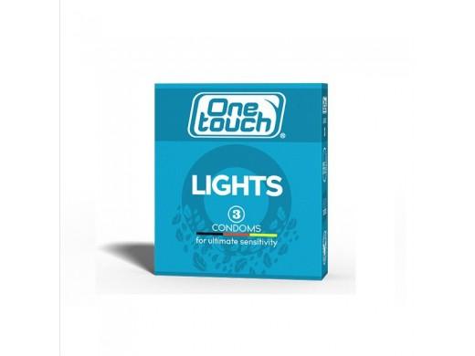 Prezervatyvai One Touch Lights, 3 vnt.