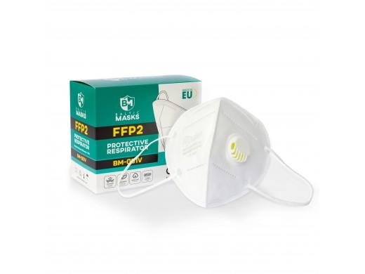 Respiratoriai FFP2 su vožtuvu Baltic Masks, 10vnt.